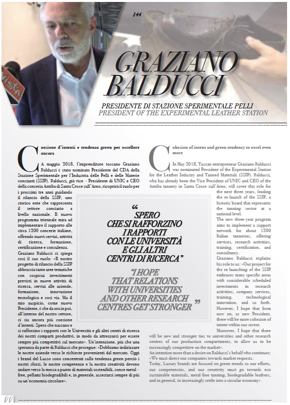 Leather&Luxury International intervista il presidente Balducci