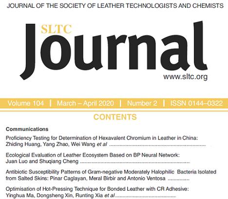 Rivista scientifica SLTC Journal marzo/aprile 2020