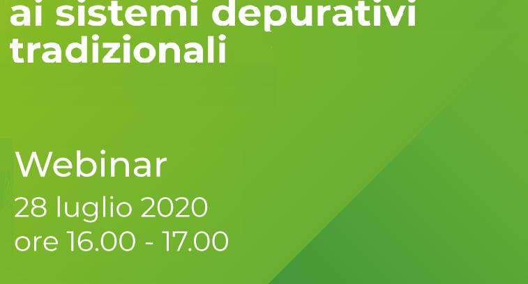 """Webinar """"Depurazione 4.0: studio del COD recalcitrante ai sistemi depurativi tradizionali"""" 28 luglio 2020"""